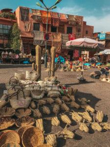 Marocké slamené výrobky