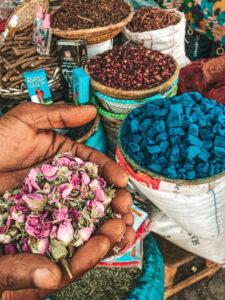 Sušené kvety a rôzne vône