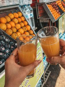 Čerstvá pomarančová šťava