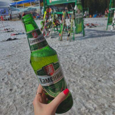 Bulharské pivo medzi lyžovaním