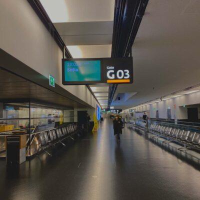 Vyprázdnené Viedenské letisko