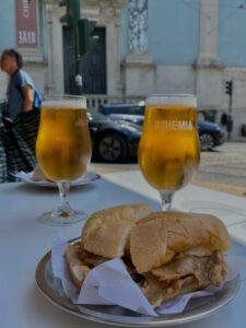Bifana a pivo - combo za niečo cez 3€