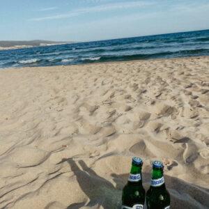 Sunny beach a dánske pivo