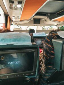 Interiér autobusu (smer Batumi -Tbilisi)
