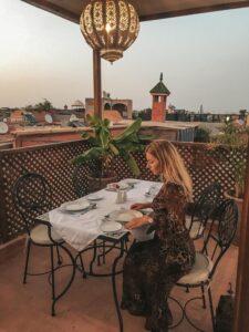 Miesto na raňajky či večeru na streche